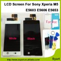Black and White High quality LCD display Touch Screen Digitizer lcd Assembly adhesive For Sony Xperia M5 E5603 E5606 E5653