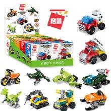 Enlighten 10 Styles Helicopter Car Juguetes Transformered Blocks Kids Toys Compatible Bricks Model Deformation Toy for Boys Gift