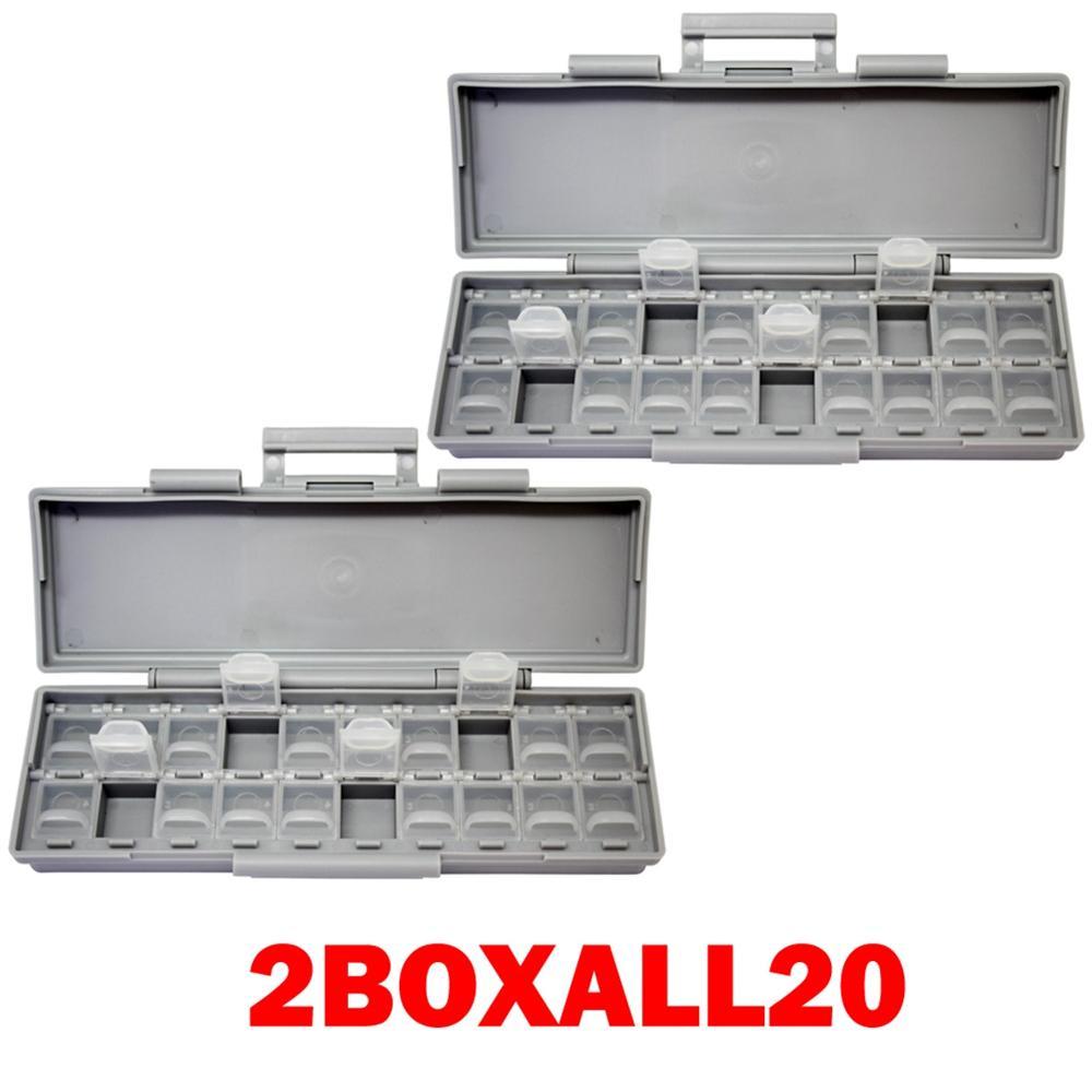 AideTek 2 корпуса поверхностного монтажа резистор конденсатор Электроника хранения ящики и органайзеры 0805 0603 пластиковые инструменты коробка 2 коробки - Цвет: 2BOXALL20