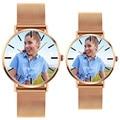 Мужские и женские часы с ремешком из нержавеющей стали A4402  золотистые  серебристые  черные  сделай сам  индивидуальный подарок