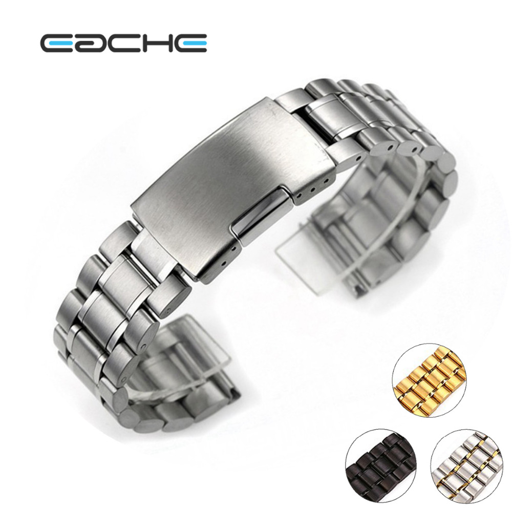 Solid Stainless Steel Watch Bracelet Watch band  smooth Head  watch straps 18mm 20mm 22mm 24mm hot sale