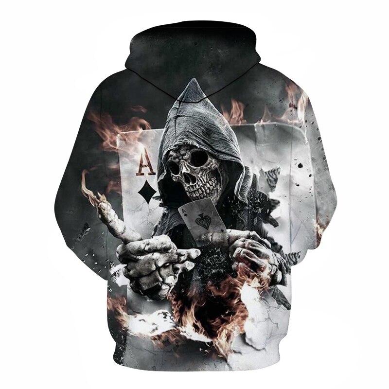 Winter 3D Printed Mens Pullover Hoodie