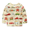 Spring Autumn Cars Full Printed Boys T Shirts Long Sleeves Kids Clothes Baby Tops 2016 T1/6557DAE