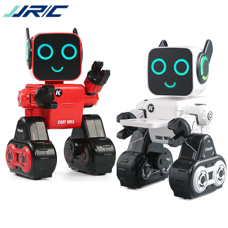 In Stock JJRC R4 Cady Wile Gesture Control Robot Toys Money Management Magic Sound Interaction RC Robot VS R2 R3 jjrc r3 rc robot toys intelligent programming dancing gesture sensor control for children kids f22483 f22483