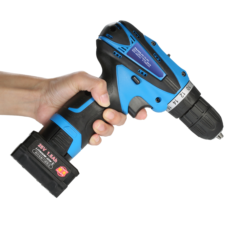 power tools 25V Lithium-Ion electric drill Two-speed dremel drill engraver Rechargeable LED Electric Cordless Screwdriver Drill