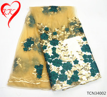 KK Tulle African lace fabrics for wedding dresses