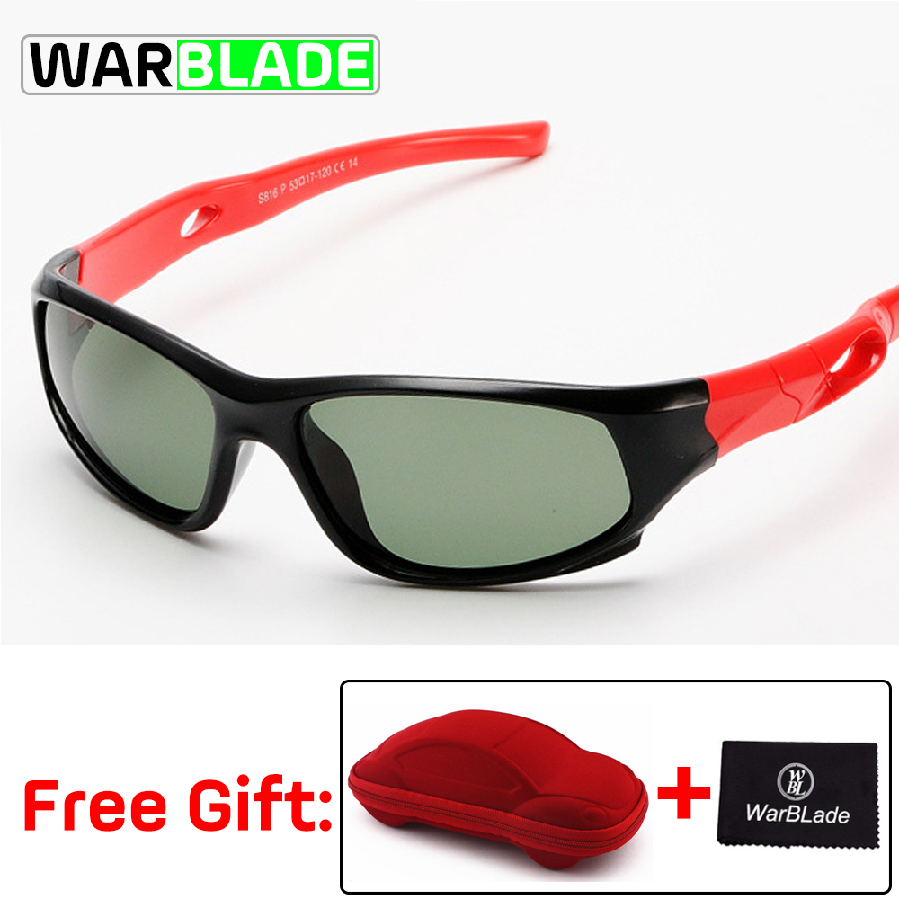 Polarized Cycling Goggles Sunglasses Security Kids Care Child for with Case Tr90-Frame