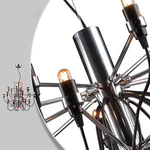 Image 4 - Nordic Modern ผลไม้โคมไฟระย้า Simple แขวนไฟร้านอาหาร/โรงแรม/DingRoom โคมไฟโคมไฟระย้า E14 18/30/50 หัวแสง