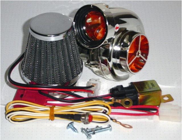 Atacado suíte turbocharger elétrico Turbo 500 com cogumelo do filtro de ar Da Motocicleta 100cc a 500cc todos podem usar