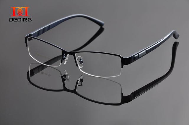 Deding мужская полукадра оптический металлический каркас бизнес спектакль кадр очки для мужчин маркос Opticos Anteojos óculos DD0942