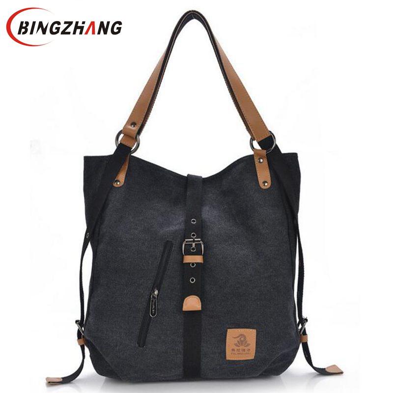 2017 New Fashion Female Handbag Lady Girls Casual Canvas Handbag Shoulder Bag Multifunctional Women Messenger Bag