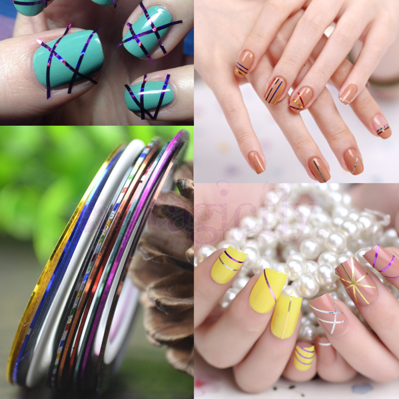 Retail 1mm Nail Striping Tape Line For Nails Decorations Diy Nail Art Self-Adhesive Decal Tools, 11 Colors For Choose 1pcs water nail art transfer nail sticker water decals beauty flowers nail design manicure stickers for nails decorations tools