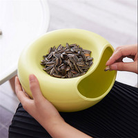 New Creative Opened Home Table Candy Snacks Dry Fruit Melon Seeds Holder Storage Box Nut Plate