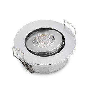 2 unids/lote de Bajo COB 3W Mini Led Spot Inbouw DC12/24 V lámpara de interior Rond no Dimbaar