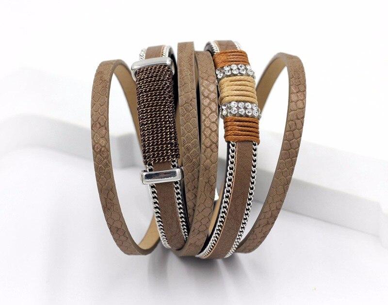 VONNOR Bracelet for Women Men Multilayer Leather Bangle Bracelets Female Jewelry Magnetic Wrap Bracelet Dropshipping 2