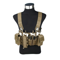 2016 CB D3 CR 556 Light Tactical Chest Rig Genuine 500D Cordura Chest Carrier Brown tactical Chest rig
