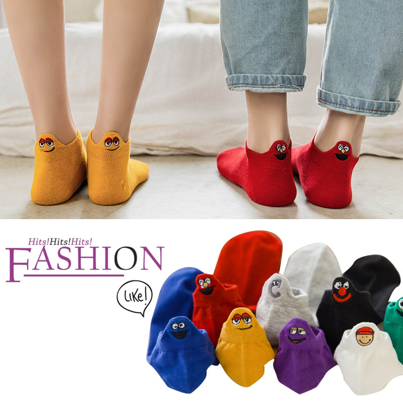 Women   Socks   1 Pair 2019 Spring New Fashion Cute Ankle   Socks   Girls Cotton Colorful Novelty Women Fashion Cute   Socks   Lady