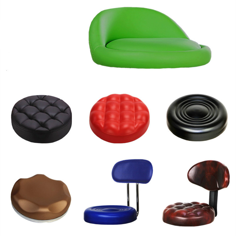 Bar Stool Surface Round PU Chair Seat Lifted Chair Accessories Thicken Sponge Cushion Stool Tray and