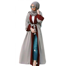 2020 Moslim Vrouwen Abaya Maxi Jurk Vest Kaftan Losse Dubai Lange Gewaad Marokkaanse Ramadan Caftan Arabische Islamitische Kleding Turkse