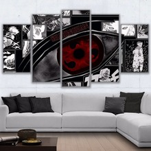 Uchiha Sharingan 5 Piece Canvas wall Art