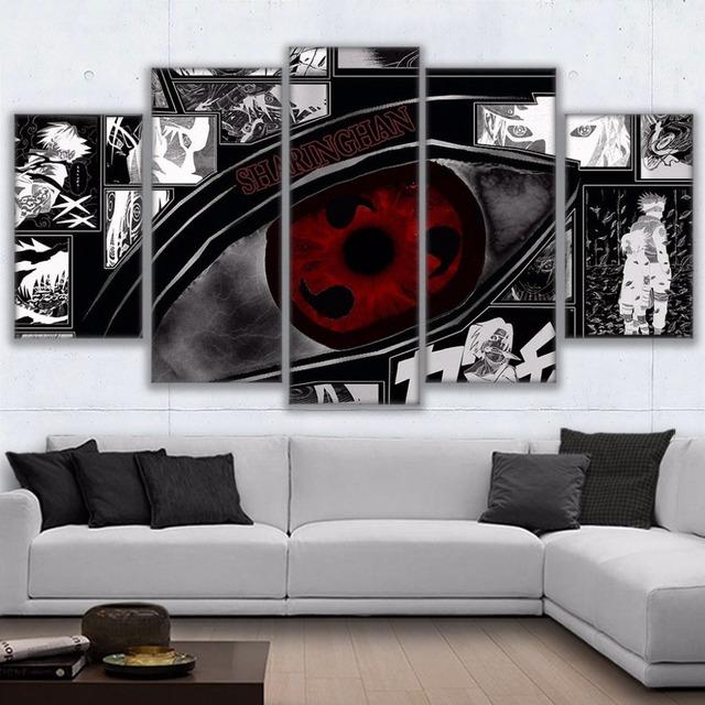 Naruto Sharingan Poster Modern Home Decor Room