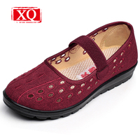 Women S Breathable Hollow Out Summer Casual Shoes Old Beijing Cloth Shoes Sandals Non Slip Mother