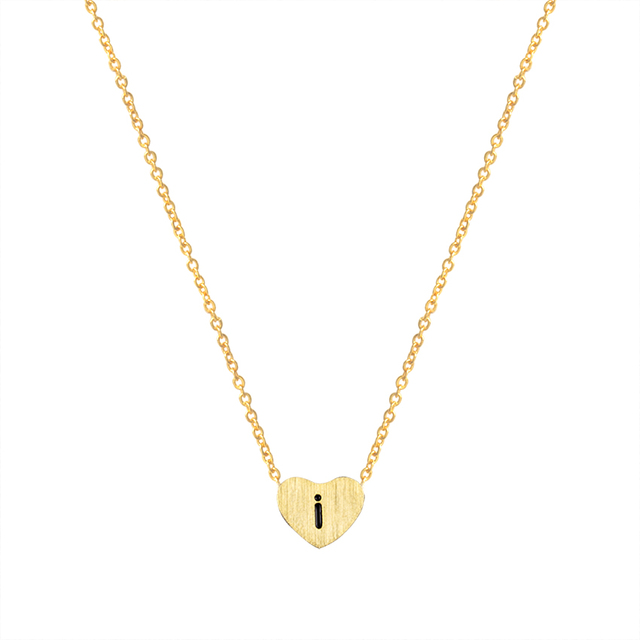Small letters necklace gold color initial i pendant chain 45cm18 small letters necklace gold color initial i pendant chain 45cm18 for women aloadofball Choice Image