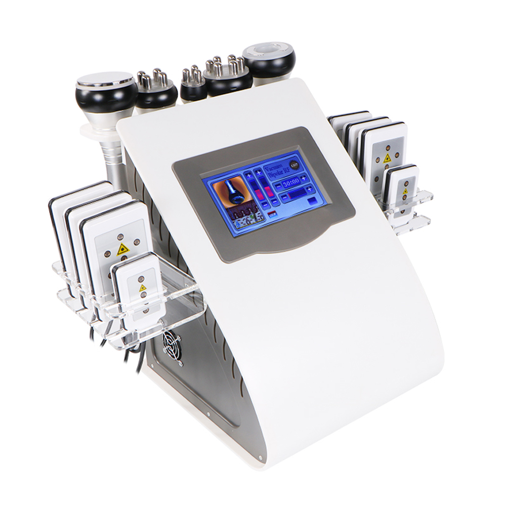 Slimming Ultrasonic Liposuction Cellulite Reduction 40K Cavitation Multipolar RF Vacuum Slimming Machine Face Skin Lifting
