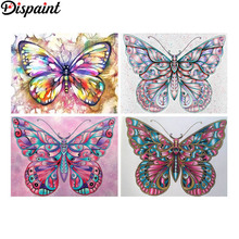 Dispaint Full Square/Round Drill 5D DIY Diamond Painting Animal color butterfly 3D Embroidery Cross Stitch 5D Home Decor Gift dispaint full square round drill 5d diy diamond painting animal hedgehog 3d embroidery cross stitch 5d home decor gift