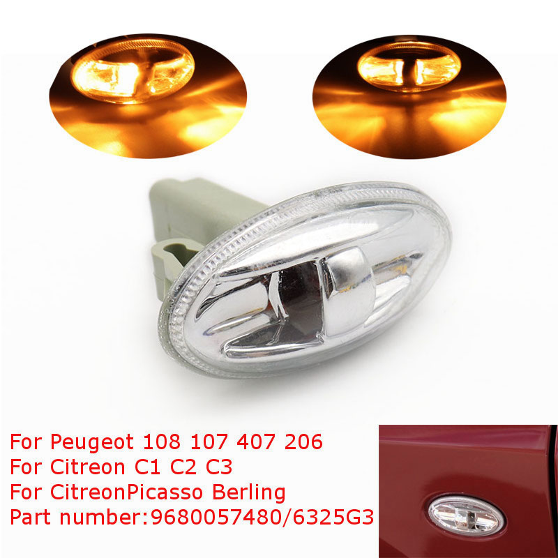 Partner Side Indicator Repeater Light Lamp Bulb For Peugeot 108 107 407 206 1007 6325G3 For Citreon C1 C2 C3 Picasso