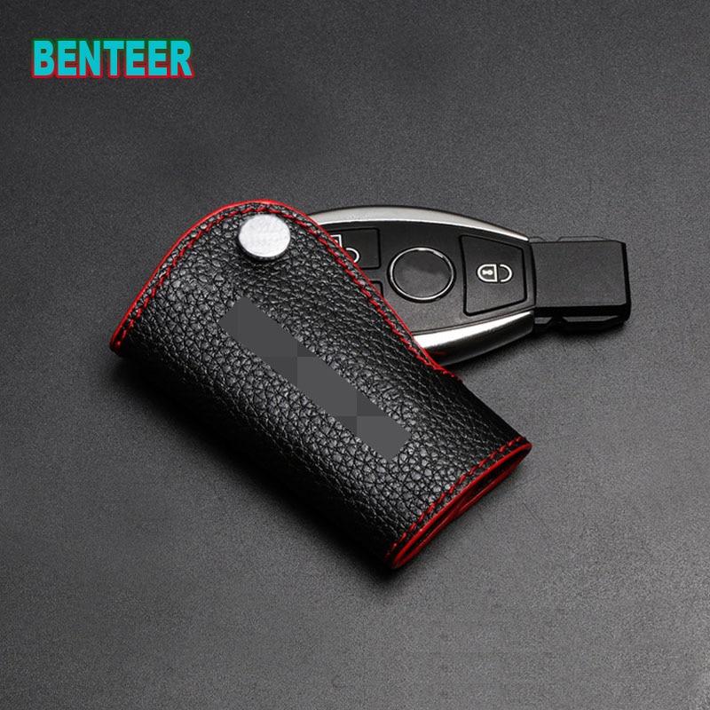 Genuine Leather Car Key Case For Mercedes Benz AMG W117
