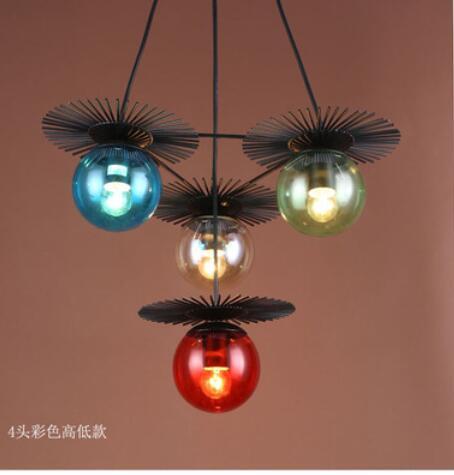 8c66e0d6 Beanstalk Pendant Lights creative American minimalist Scandinavian LED  retro iron glass ball dining room single head LU724198. 5371.8 руб.