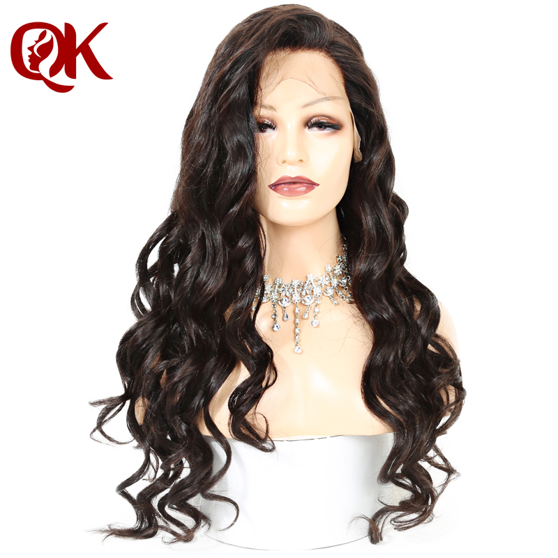 QueenKing hair 180% Density Full Lace Wig Natural Color 100% Brazilian Human Hair Loose Wave Preplucked Hairline Remy Hair Wigs