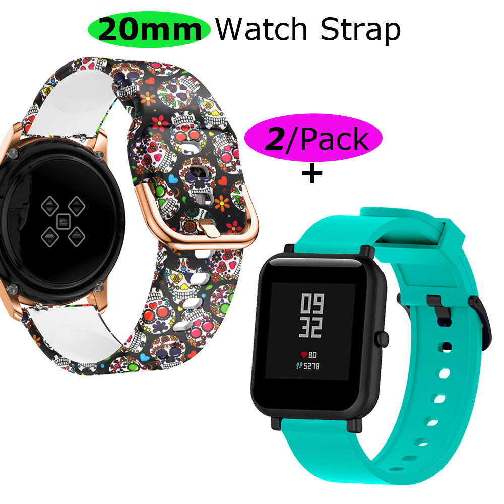 20mm Bracelet Strap For Xiaomi Huami Amazfit GTS Watchband Amazfit Bip Wristband Amazfit GTR 42mm Silicone Watch Band Wrist Belt in Smart Accessories from Consumer Electronics