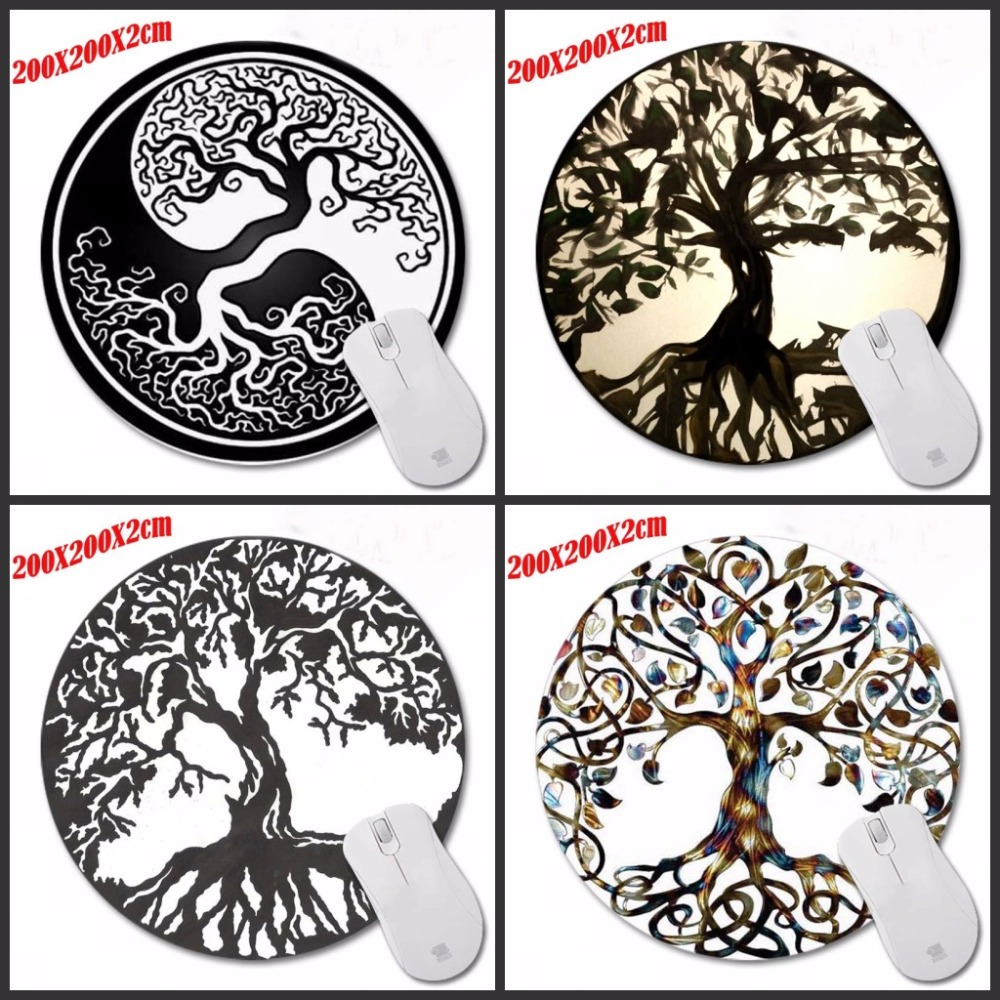 The Tree Of Life  Luxury Print  New Small Size Round Mouse Pad Non-Skid Rubber Pad  For Optical/Trackball Mouse 200*200*2CM