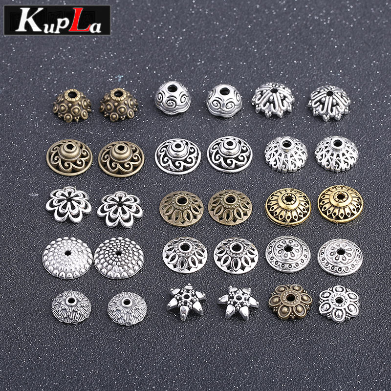 Vintage Metal Cameo Bead Caps Accessories DIY Handmade Fashion Classic Retro Components for Jewelry Making C6363