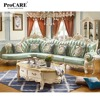 Elegant Green Leather Sofa Hot Sale Large Sofa Set Real Cow Leather Furniture Modern Design Furniture