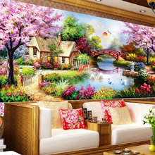 free shipping DIY 5d Diamond painting sitting room bedroom garden cottage home decor cross stitch mosaic
