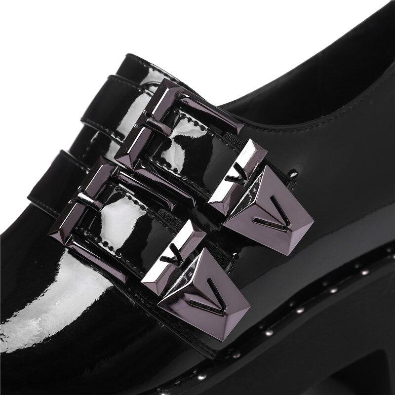 2019 vino hebilla negro Sarairis Zapatos Tinto Mujer Altura Plataforma Plana Casuales Primavera De Fecha Otoño Marca Slip Apricot avZdgv