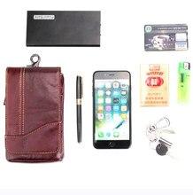 dc53764b33f2 Genuine Leather Phone Case Shoulder Belt Hook Loop Pouch For Huawei Y7 Y7  Prime Y6 (2017)