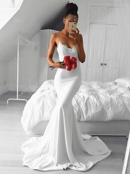 Spaghetti Straps Evening Dress Mermaid Formal Dress V-Neck Classic Party Dresses Abendkleider 2019