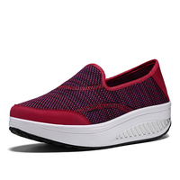 Trainers Women Platform Wedges Walking Shoes Comfortable Lightweight High Heel Fitness Brand Sneakers Breathable Sports Shoes