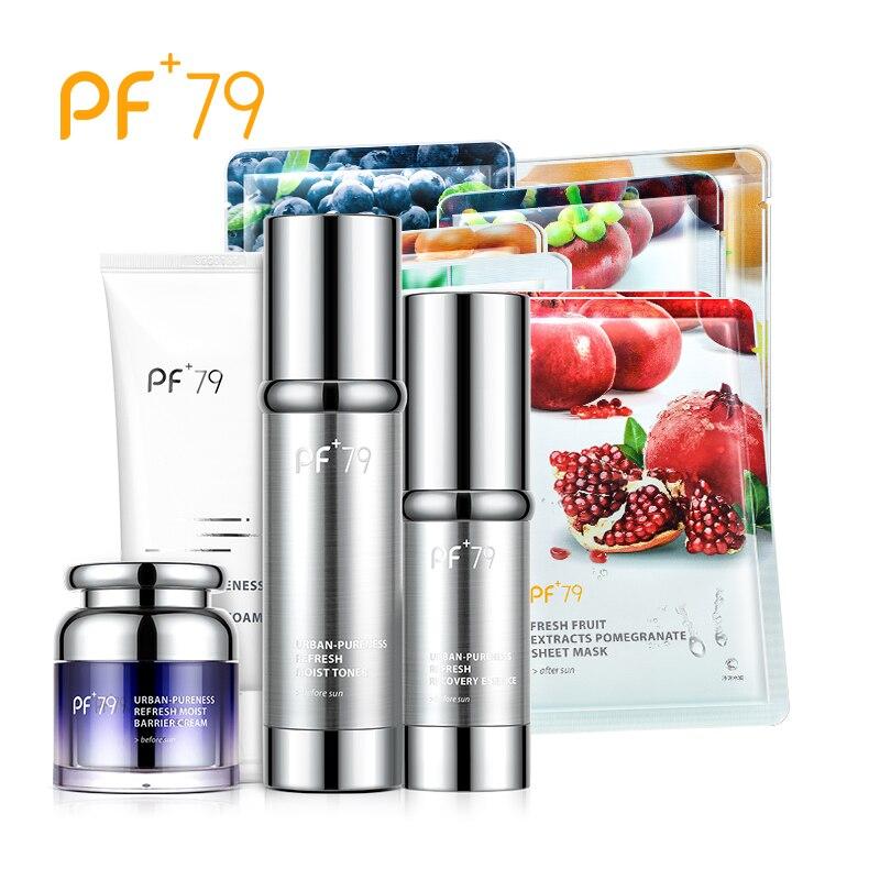PF79 набор по уходу за кожей обновления влажный защитный крем тонер очищающая пена восстановления сущность увлажняющий, питательный ремонт к