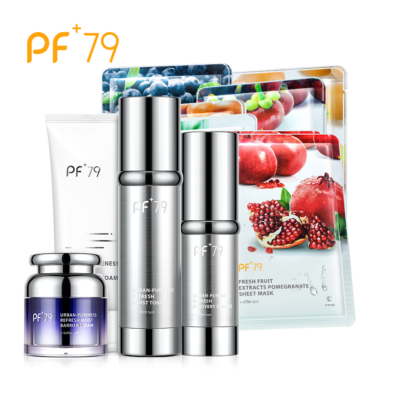PF79 Skin Care Set Refresh Moist Barrier Cream Toner Cleansing Foam Recovery Essence Moisturizing Nourishing Repair Skin
