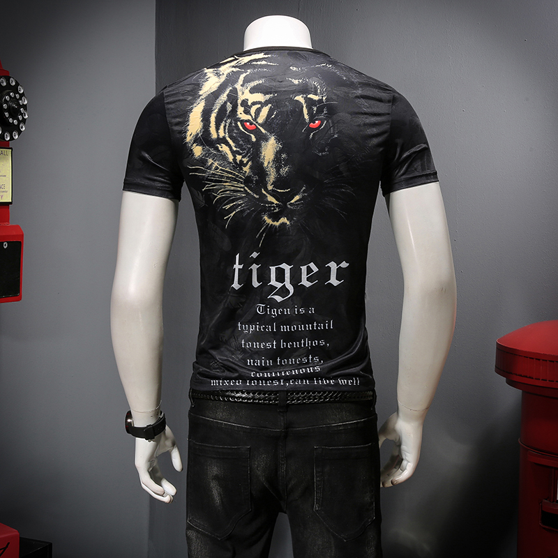 The new summer 2019 The comfortable tencel ICONS Hollow out breathable Printing short sleeve T shirt men C9012 P45-in T-Shirts from Men's Clothing on Aliexpress.com | Alibaba Group 12