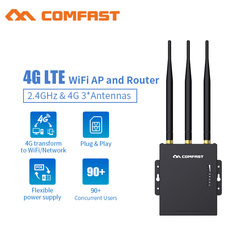 التوصيل والتشغيل موزع إنترنت واي فاي 4G مودم مع سيم فتحة للبطاقات نقطة الوصول 2.4G في الهواء الطلق AP 4G LTE راوتر مع 3 * 5dBi هوائيات إشارة قوية