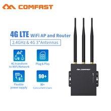 موصل وتشغيل جهاز توجيه واي فاي 4G مودم مع فتحة بطاقة SIM نقطة وصول 2.4G في الهواء الطلق AP 4G LTE راوتر مع هوائيات إشارة قوية 3 * 5dBi