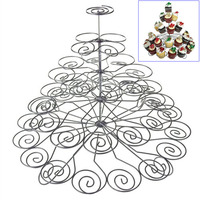 Fashion 5 Layers 41 Cups Cupcake Holder Iron Spray Paint Cupcakes Stand For Household Child Birthday