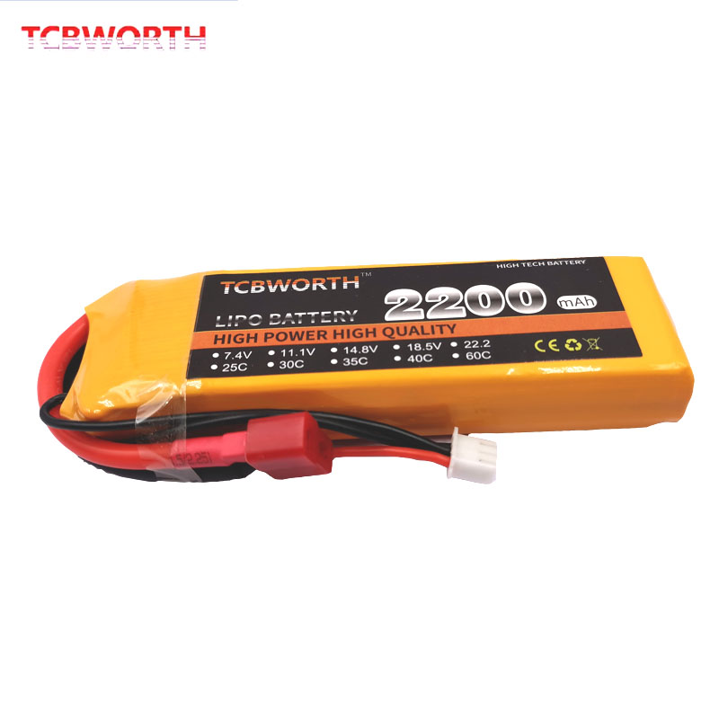 RC LiPo Battery 2S 7.4V 2200mAh 60C Max 120C For Drone RC Helicopter Airplane Quadrotor Car FPV High Rate RC Batteries LiPo 7.4V(China)