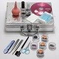 Pro 1 Set False Eyelash Individual Fake Eye Lashes Extension Makeup Tools Glue Tweezer Brushes Set Kit Case Not Include CD